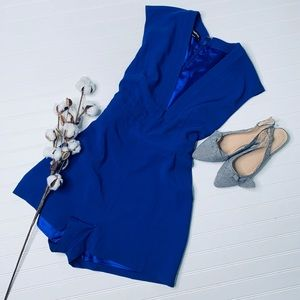 bebe Blue Brooke Tie Belted Romper